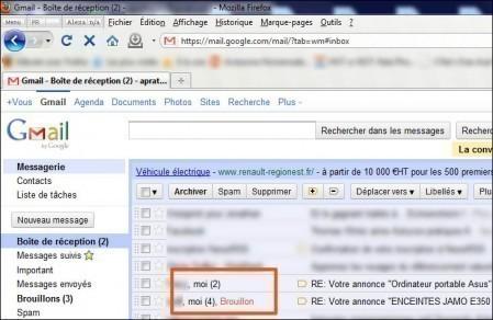 dégrouper les mails dans gmail