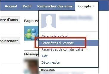 desactiver un compte facebook 1