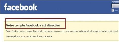 desactiver un compte facebook 6