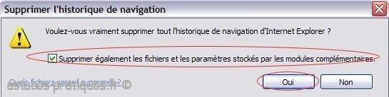 effacer ses traces de navigation sur internet explorer 7 3
