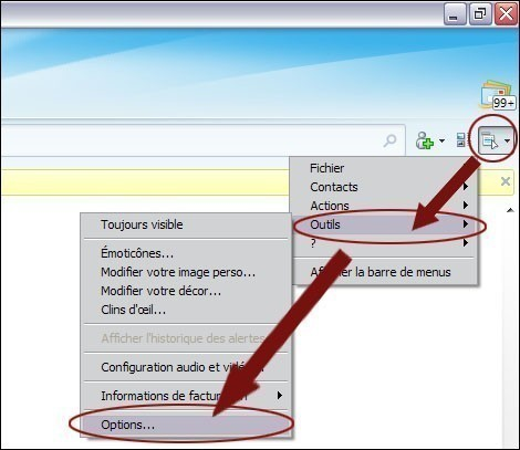 Enlever le son sur windows live messenger 2009