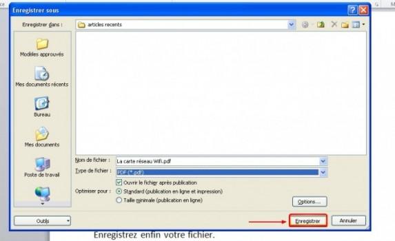 enregistrer un document word au format pdf sous word 2010 2