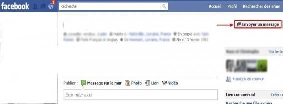 envoyer un message prive a un ami sur facebook 3