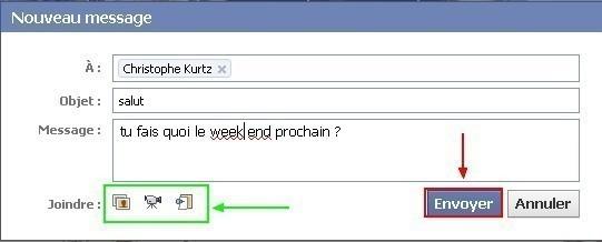 envoyer un message prive a un ami sur facebook 4