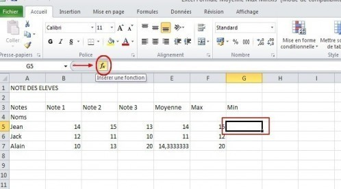 excel formules moyenne max min 16