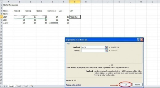 excel formules moyenne max min 18