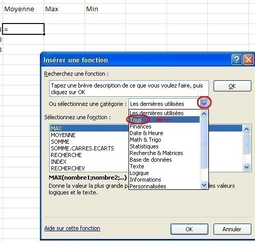 excel formules moyenne max min 3