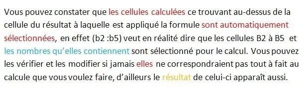 excel formules somme 4