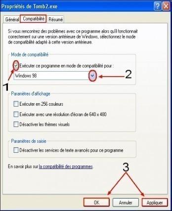 executer un programme en mode de compatibilite 1