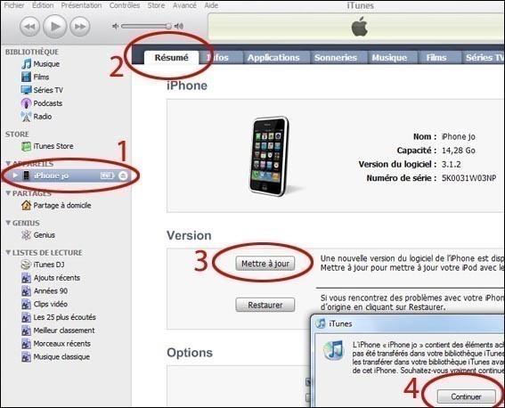 faire la mise a jour sur iphone 0