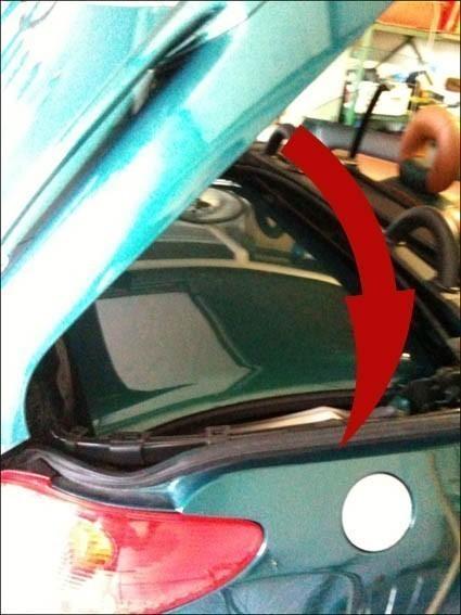 fermer le toit de 206 cc manuellement 7