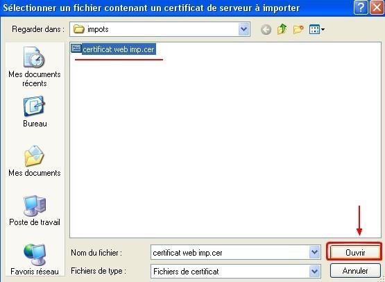 firefox ajouter un certificat web 3