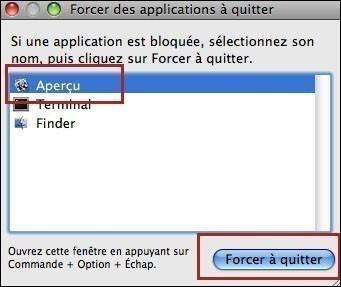 forcer une application a quitter sur mac 2