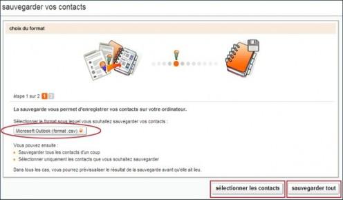 gestion avancee des contacts sur orange 5