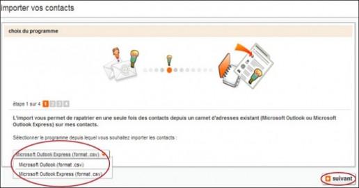 gestion avancee des contacts sur orange 3
