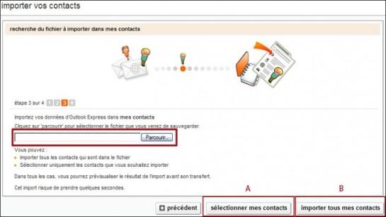 gestion avancee des contacts sur orange 4
