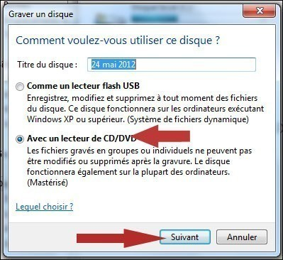 graver un cd audio avec windows seven 3
