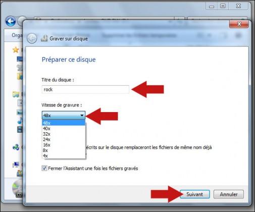 graver un cd audio avec windows seven 5