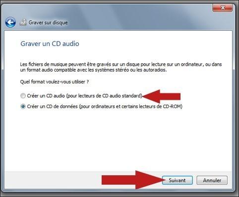 graver un cd audio avec windows seven 6
