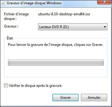 graver une image cd iso avec windows seven 1