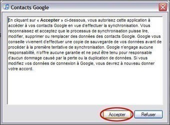 importer contacts google sur iphone avec itunes 1
