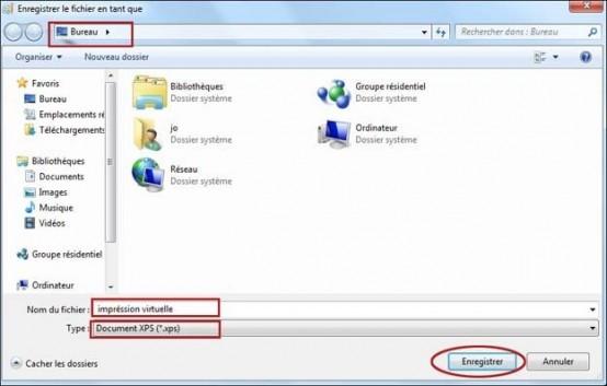 imprimer un document dans un fichier xps 1