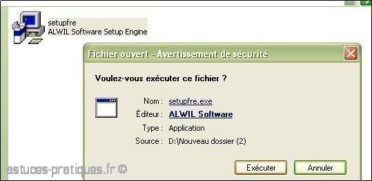 installation de l ancienne version avast antivirus 3