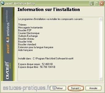 installation de l ancienne version avast antivirus 5