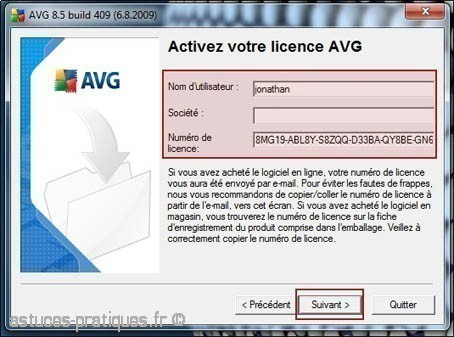 installation de l antivirus avg 3