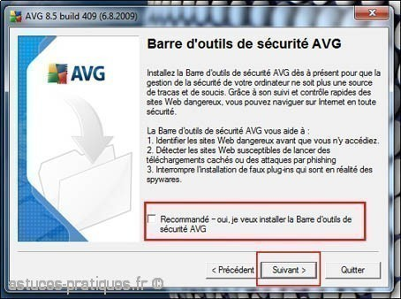installation de l antivirus avg 4
