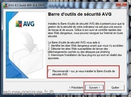 installation de l antivirus avg 4