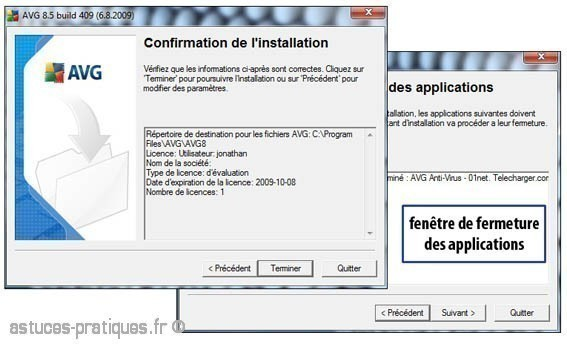 installation de l antivirus avg 5