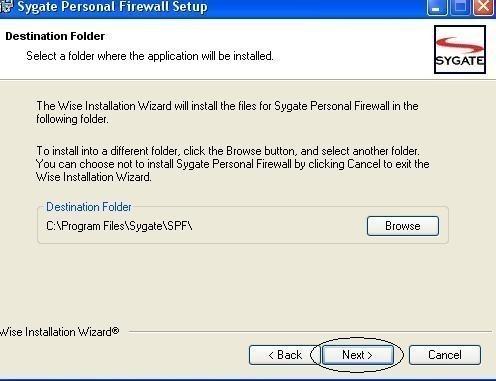 installation et configuration de sygate personal firewall 2