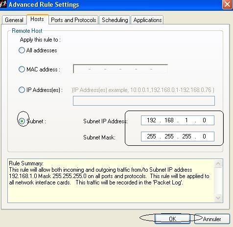 installation et configuration de sygate personal firewall 18