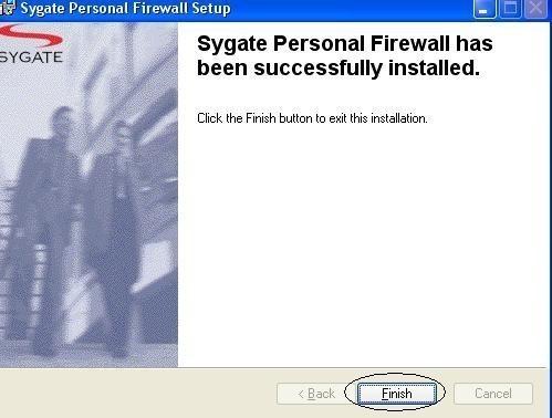 installation et configuration de sygate personal firewall 3