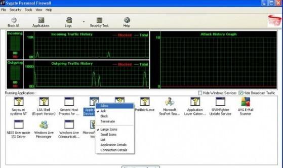 installation et configuration de sygate personal firewall 5