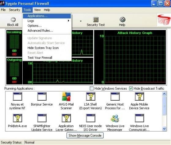 installation et configuration de sygate personal firewall 6