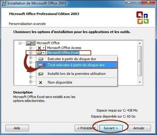 installation personnalisee de office 2003 3