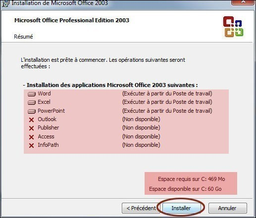 installation personnalisee de office 2003 4