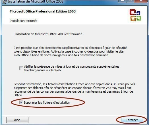 installation personnalisee de office 2003 6