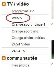 installer et regarder la web tv d orange 0