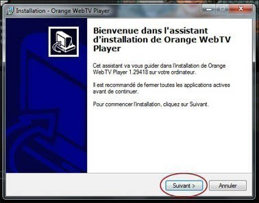 installer et regarder la web tv d orange 2