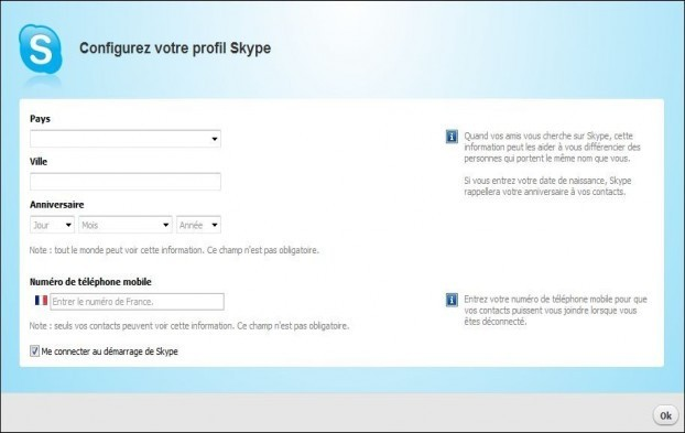 cliquez une fois installer skype
