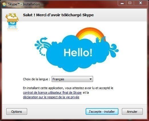 installer et utiliser skype 0