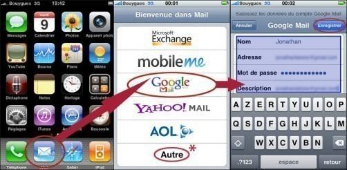 installer et utiliser une boite mail sur iphone