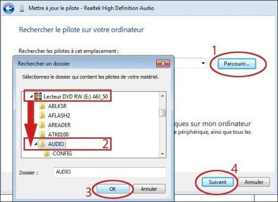 installer les drivers son pour asus a6ja sur windows 7 seven 4