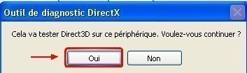 l outil de diagnostic directx 7