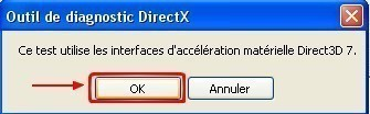 l outil de diagnostic directx 8