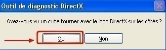 l outil de diagnostic directx 10