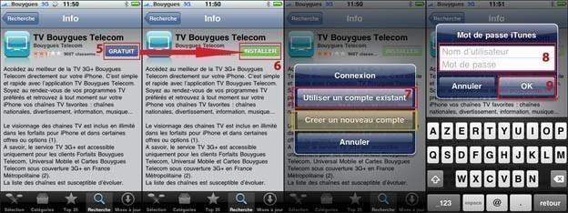 la tv sur iphone avec bouygues 1